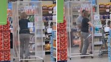 Supermarket shopper's bizarre Covid 'outfit' goes viral