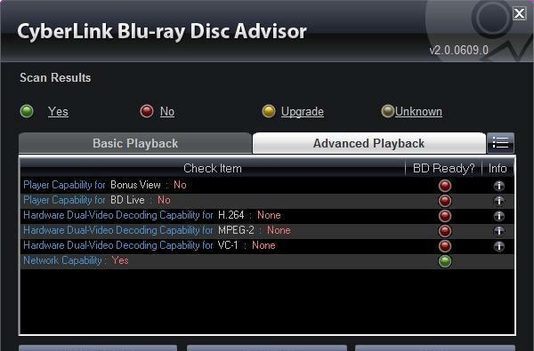 Your PC BD-Live ready? Cyberlink's latest Blu-ray Disc Advisor can check