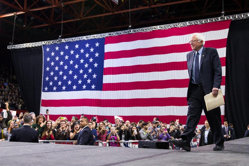 Bernie Sanders, trailing Hillary Clinton for the Democratic presidential ticket, was this week the first candidate to visit Binghamton since George W. Bush 16 years ago (AFP Photo/Brett Carlsen)