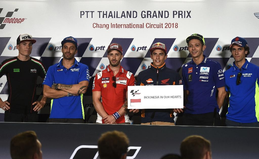 MotoGP riders paid tribute to the victims of the Indonesia earthquake and tsunami disaster