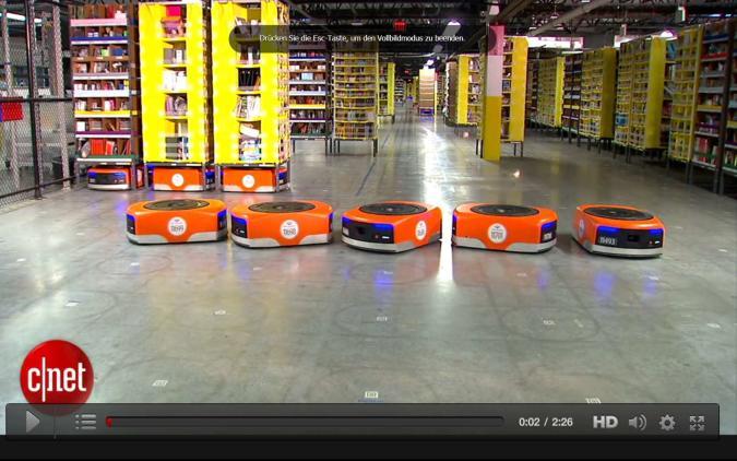 Amazons robotische Helfer