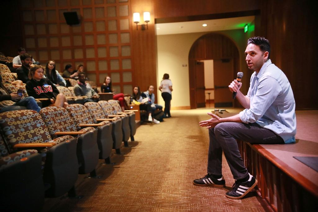Omar Qudrat, who is running as a Republican for Congress in California's 52nd district, is a Muslim who sees no contradiction with US President Donald Trump rhetoric (AFP Photo/Sandy Huffaker)