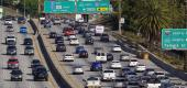 Traffic on the Hollywood Freeway in Los Angeles. (Mark J. Terrill/AP)
