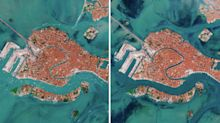 Photos from space show how Venice's canals have transformed during pandemic