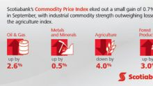 Following different paths on a common upward hill: Scotiabank Commodity Price Index