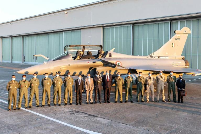 Indian fighter pilots take delivery of five Rafale aircraft from France's Dassault Aviation as New Delhi faces off with China over their disputed border