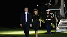 Melania Trump criticized for wearing sunglasses at night