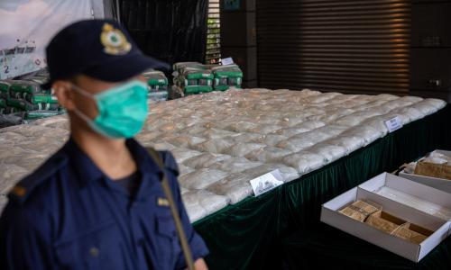 Record ice shipment bound for Melbourne seized in Hong Kong as Covid hits drug supply