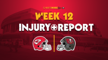 Thanksgiving injury report for Chiefs vs. Buccaneers, Week 12