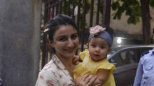 Cute Pics of Soha Ali Khan With Daughter Inaaya Kemmu