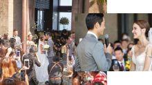 更多婚照釋出!鄭嘉穎陳凱琳行禮照曝光 穿上粉色裙褂的新娘子很美!