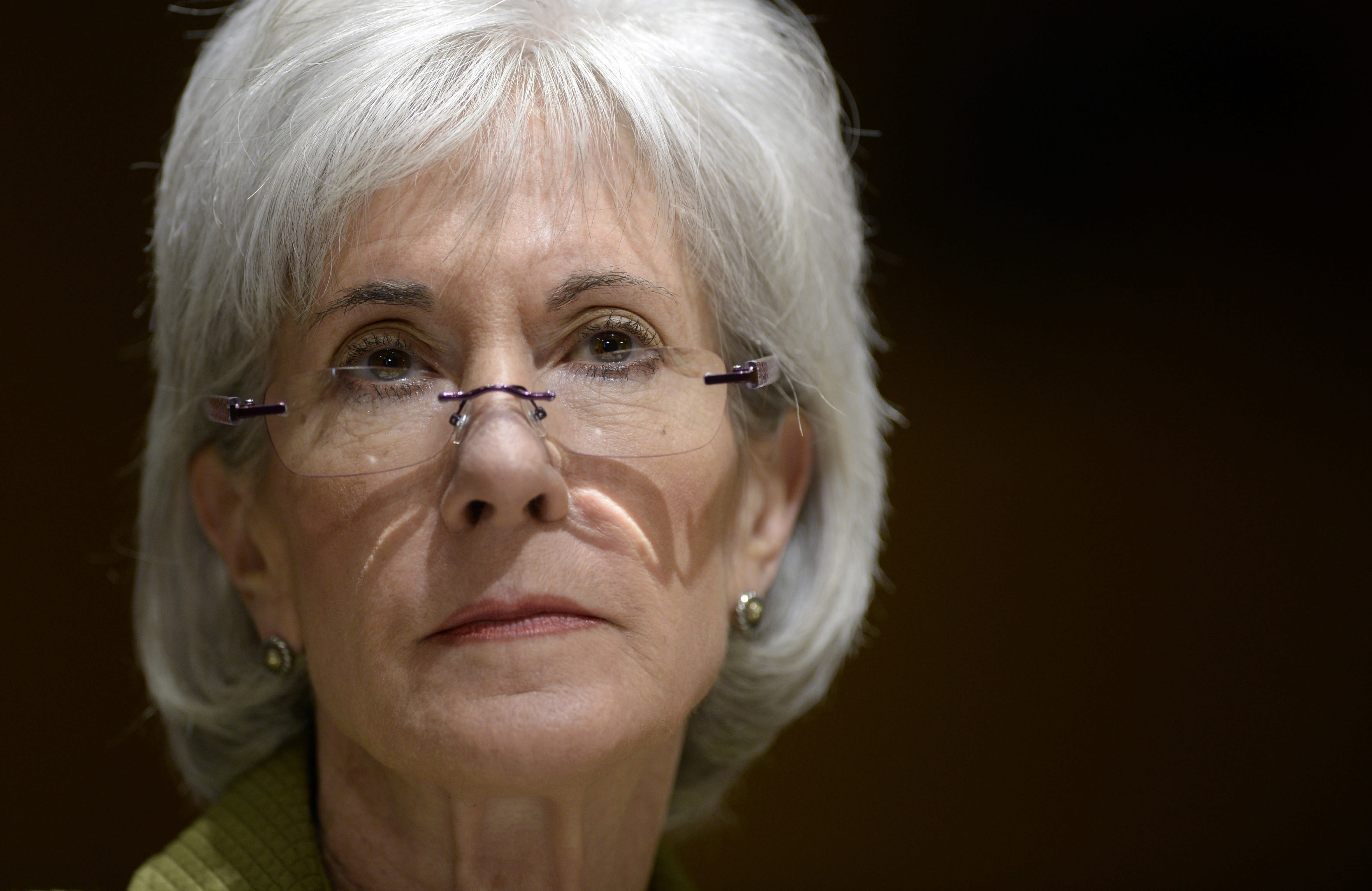 Health and Human Services Secretary Kathleen Sebelius listens as she testifies on Capitol Hill in Washington, Thursday, April 10, 2014, before the Senate Finance Committee hearing on the HHS Department's fiscal Year 2015 budget. A White House official says Sebelius is resigning from the Obama administration. The move comes just a week after the close of the rocky enrollment period for President Barack Obama's health care law. (AP Photo/Susan Walsh)