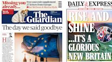 'Build the Britain we were promised': How the front pages reacted to Brexit