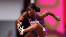 Olympics-Athletics-World record holder Harrison on course for gold dash
