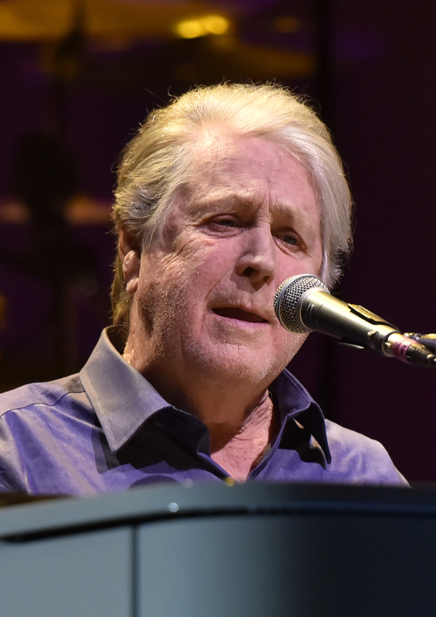 "FILE - This Oct. 6, 2017 file photo shows Brian Wilson of The Beach Boys performing at the Rosemont Theatre in Rosemont, Ill.Rolling Stone magazine, which closed its offices like many companies to prevent the coronavirus from spreading, will launch the new IGTV performance series ""In My Room"" on Wednesday at 3 p.m. EST. It will feature Wilson performing ""In My Room"" as well as other classic songs; episodes will be released every Monday, Wednesday, and Friday. (Photo by Rob Grabowski/Invision/AP, File)"