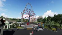 SUPERGIRL Thrill Ride Landing at Six Flags St. Louis in 2019