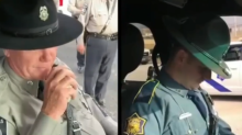 Son gives father heartfelt sendoff on his last radio call before he retires from highway police