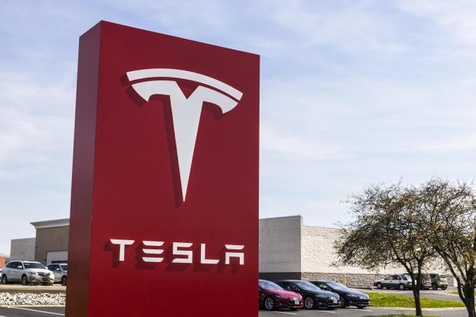 Indianapolis - Circa April 2017: Tesla Service Center. Tesla designs and manufactures the Model S electric sedan IV