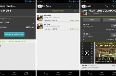 Google Play adds in-app subscription support for Android