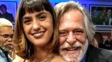 Zé de Abreu e namorada trocam beijos em vídeo romântico