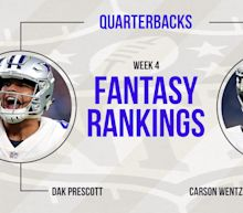 Fantasy Football Week 4 Rankings: Quarterback