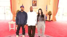 Kanye gives Ugandan leader sneakers, gets African name