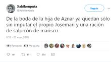 Las redes se ceban con el legado de Aznar: ministros encarcelados, imputados y con sobresueldos