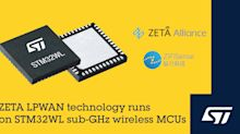 STMicroelectronics Joins ZETA Alliance to Promote Emerging Long-Range IoT Connectivity Standard