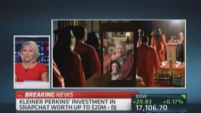 Kleiner Perkins' Snapchat investment worth up to $20 mill...