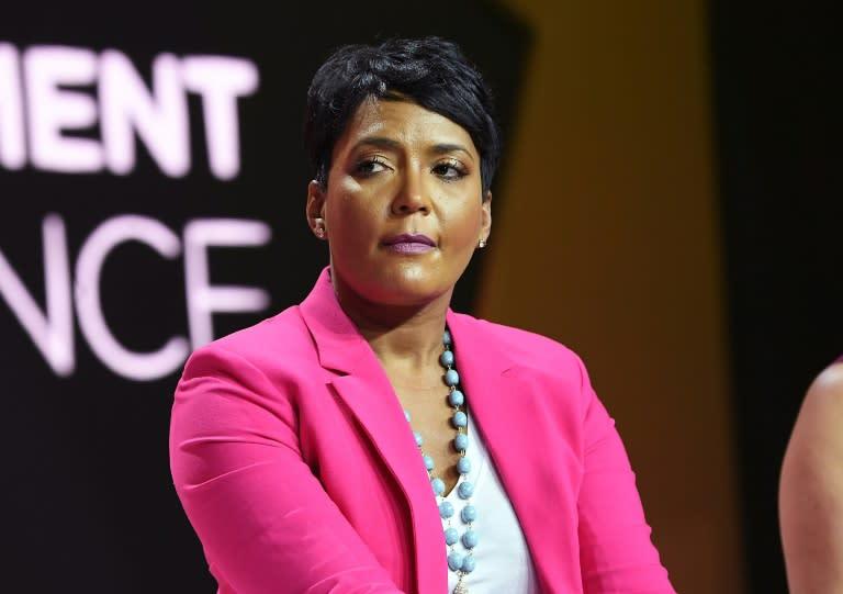 "Atlanta mayor Keisha Lance Bottoms (pictured July 2018) said she had ""NO symptoms"" when she tested positive for the coronavirus"