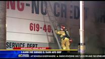 2-alarm fire damages El Cajon auto shop