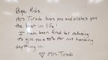 Florida teacher says she was fired for refusing to give students partial credit on an assignment they didn't turn in