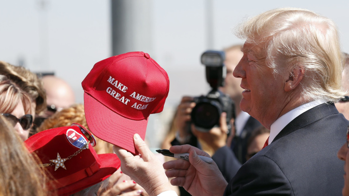 Trump amends 'Make America Great Again' slogan