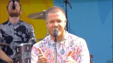 Imagine Dragons performs their latest hit 'Walking the Wire' in Central Park