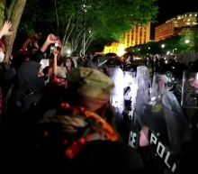 Police and protesters in standoff outside of White House over Floyd's murder