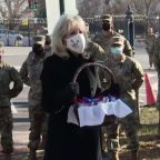 First lady thanks National Guard troops with cookies