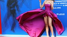 Gust of wind leaves Italian model with super revealing wardrobe malfunction