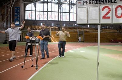 Cornell Ranger sets unofficial distance walking record for a robot