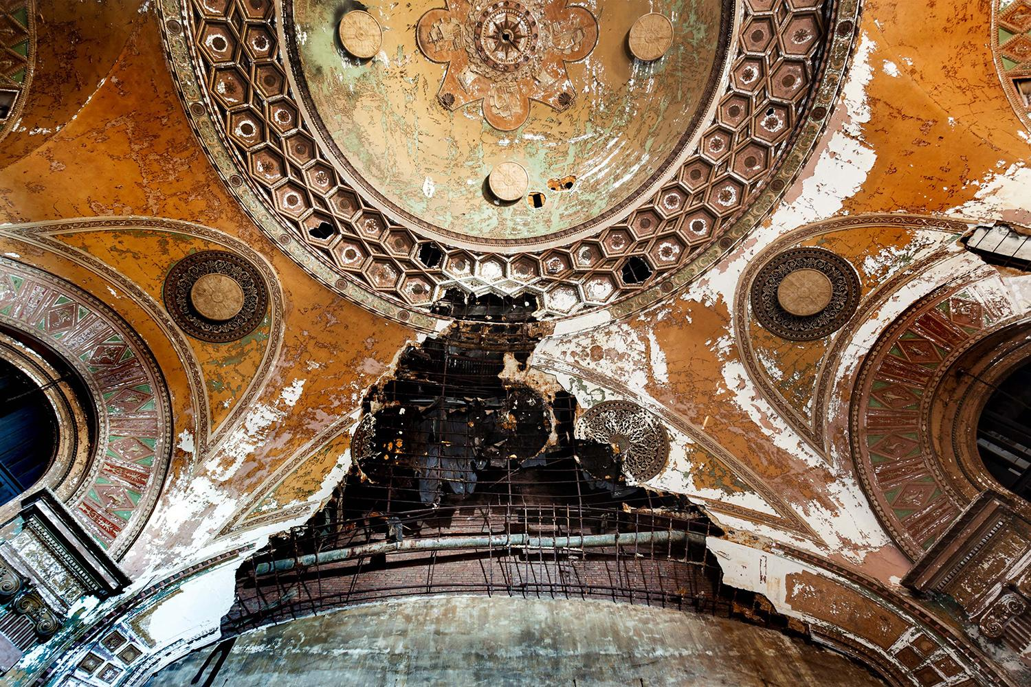 <p>The eerie but stunning pictures show the dilapidated buildings, decaying paintwork, and crumbling architecture. (Photo: Matt Lambros/Caters News) </p>