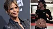 Halle Berry, 53, shows off her 'ripped abs' on Instagram