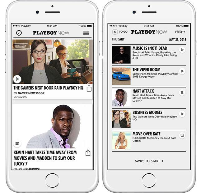 SFW 'Playboy Now' app is only here for the articles