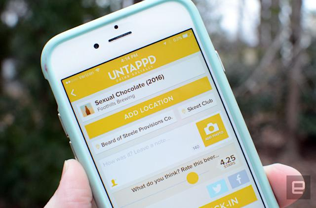 Beer-tracking app Untappd gets barcode scanning, hails an Uber