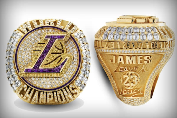 WOSHUAI 2020 Los Angeles Basketball Championship Anneau Champions Anneau R/éplique pour Les Fans Cadeau de la Collection pour Hommes