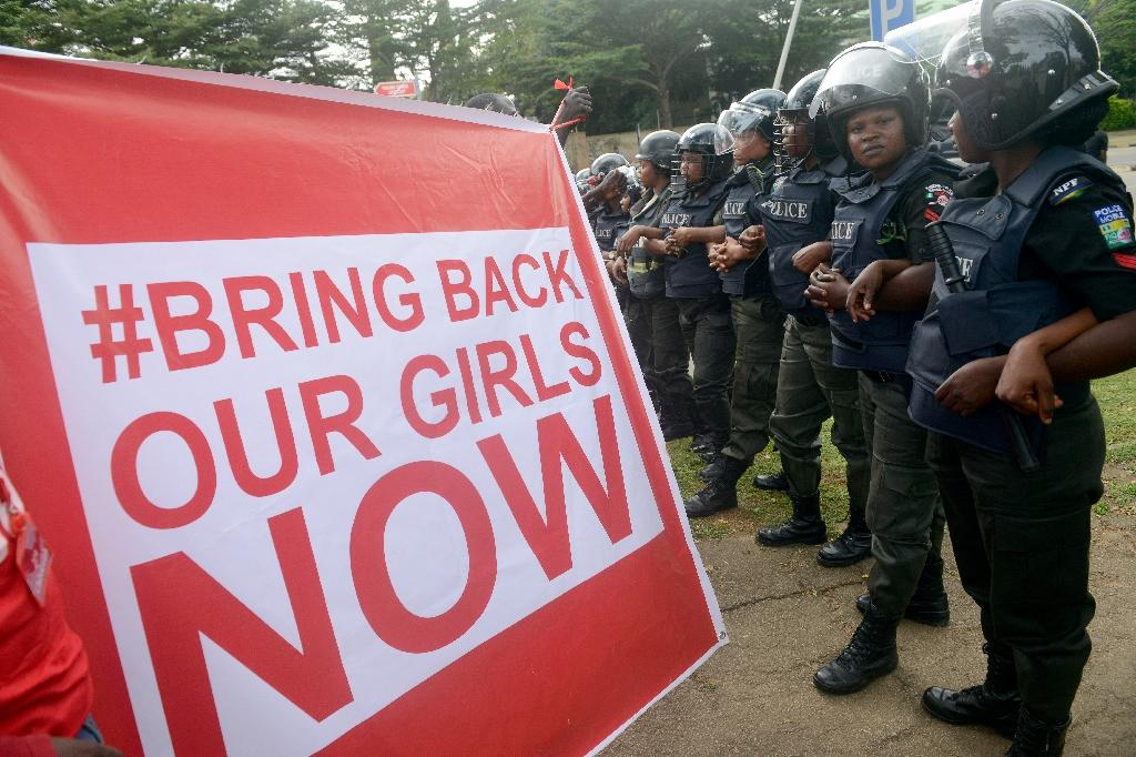 #BringBackOurGirls was used to mobilise the campaign to get the return of the 219 girls abducted by Boko Hama jihadists in Northeast Nigeria (AFP Photo/PIUS UTOMI EKPEI)