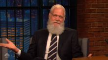 David Letterman returns to 'Late Night' with a weird, tiny gift