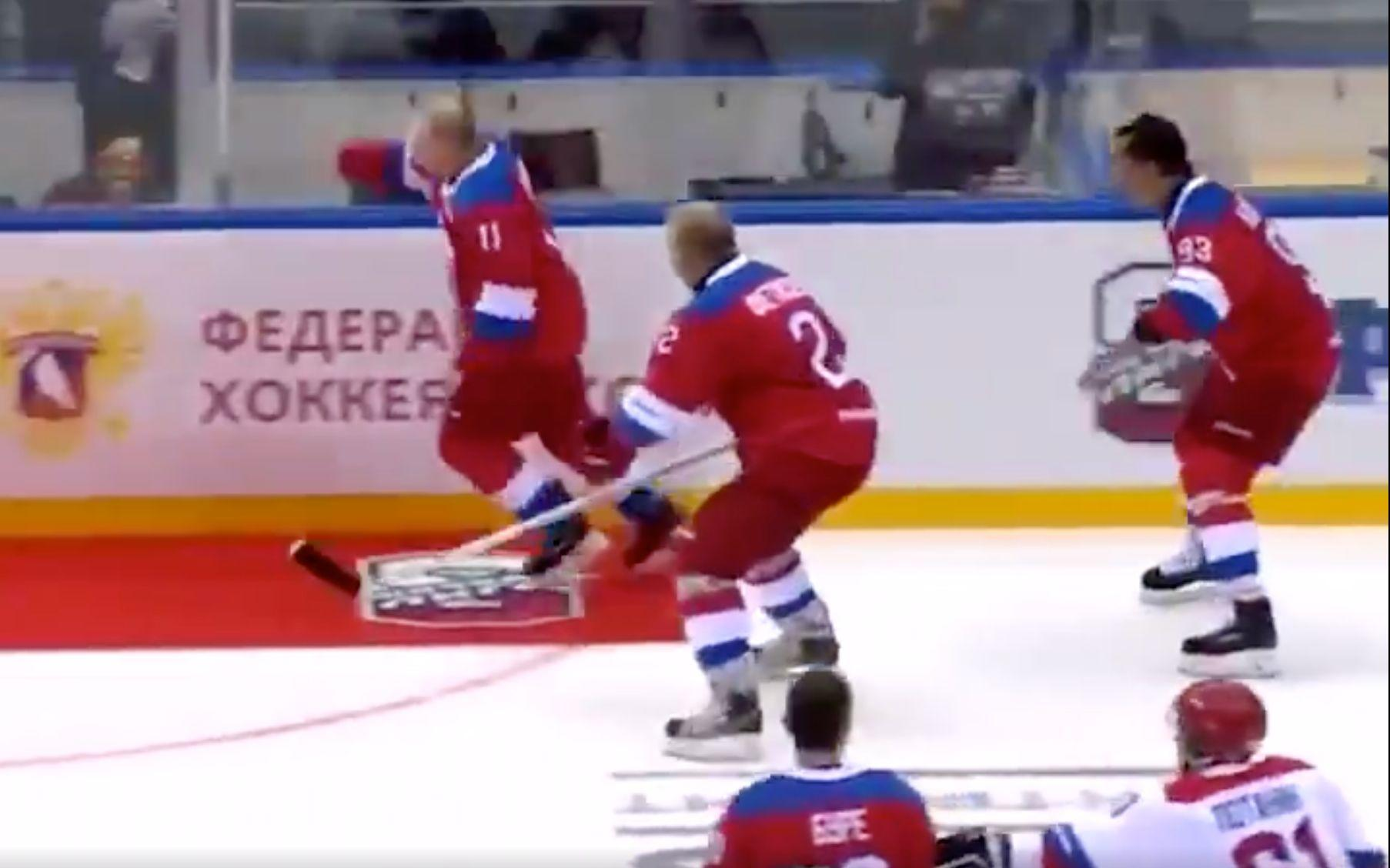 Vladimir Putin Trips Over Carpet After Annual Hockey Game