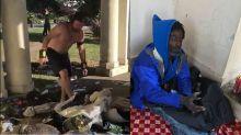 Lo filmaron arrojando las pertenencias de un indigente al lago y se desató la polémica
