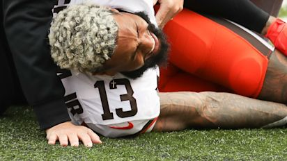 Torn ACL ends season for Browns' Beckham
