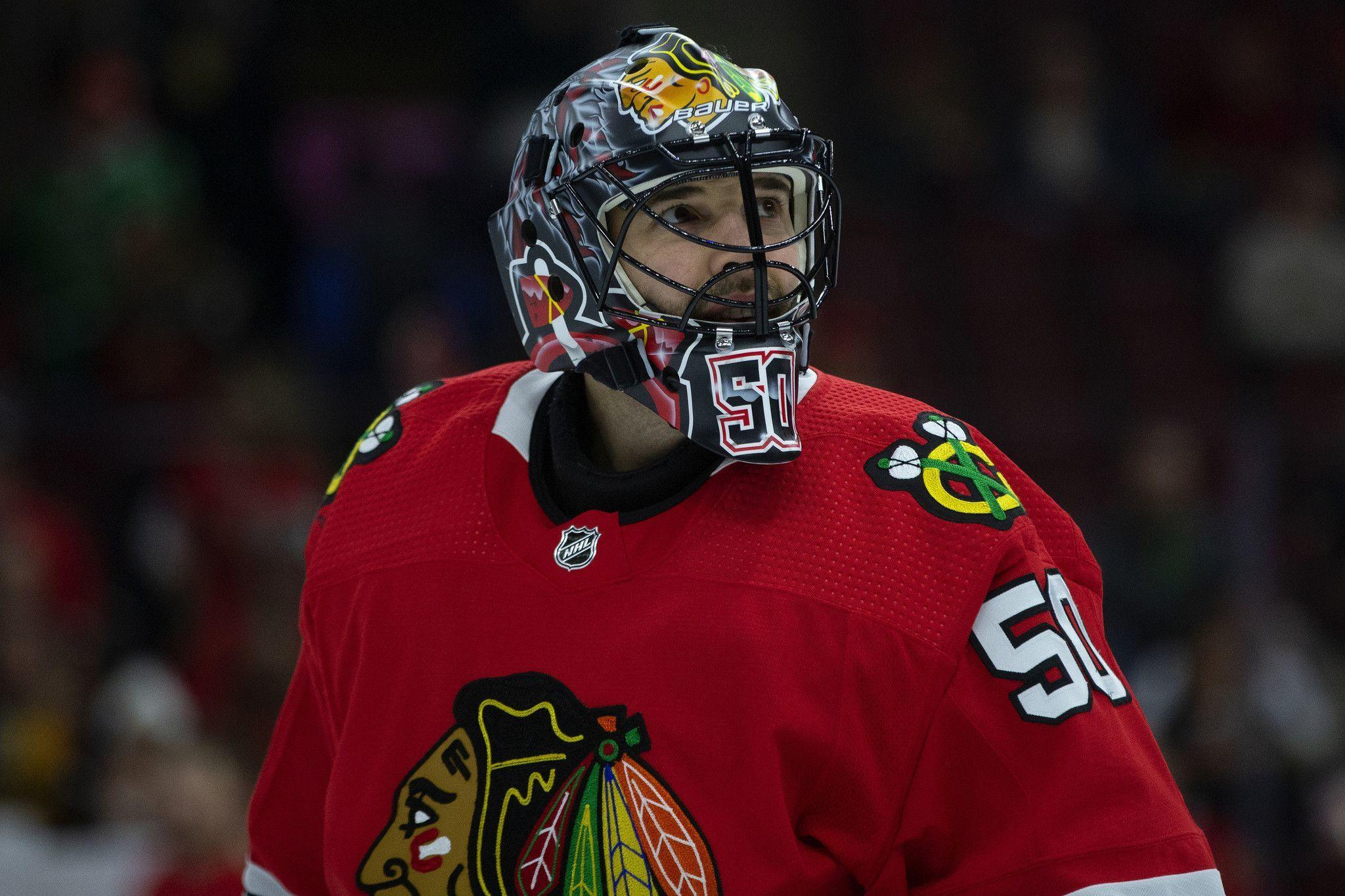 Goalie Corey Crawford is back for Blackhawks after testing positive for COVID-19