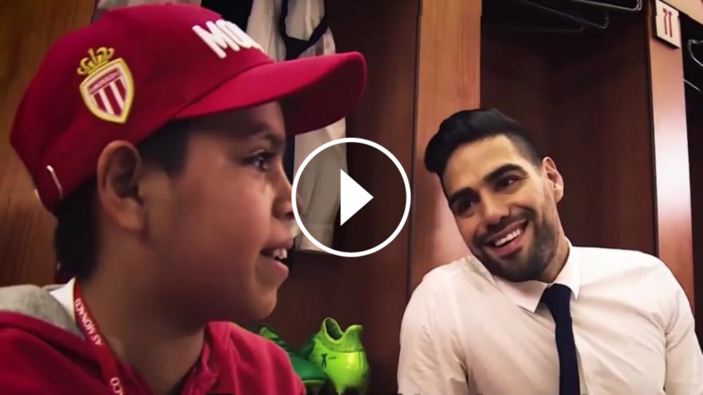 VIDEO: Falcao cumple el sueño de un niño colombiano, adoptado en Francia